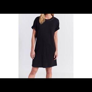 CURRENT/ELLIOTT BLACK T-SHIRT DRESS
